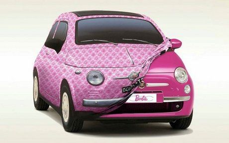 Fiat-500-barbie-car