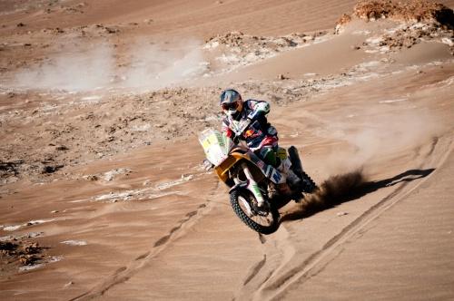 Rallye DAKAR  2014 - MARC-COMA au cours étape vers Arica.