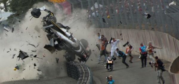 24 HEURES DU MANS 2011 - Le crash de l'Audi de McNich -crash
