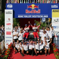 ALLEMAGNE 2011 OGIER Equipe citroen podium