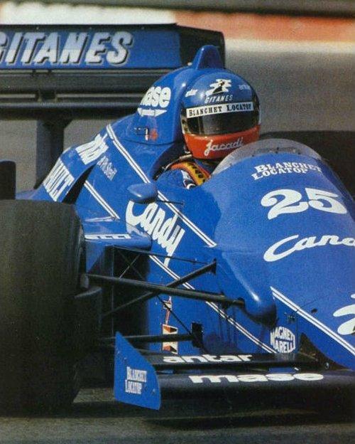 PHILIPPE STREIFF 3ème du Grand Prix d'Australie 1985 au volant de la LIGIER-RENAULT