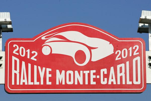 MONTE CARLO 2012 Plaque ralllye Jo LILLINI