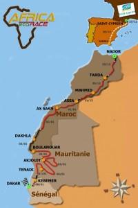 africa race carte 2012 grande