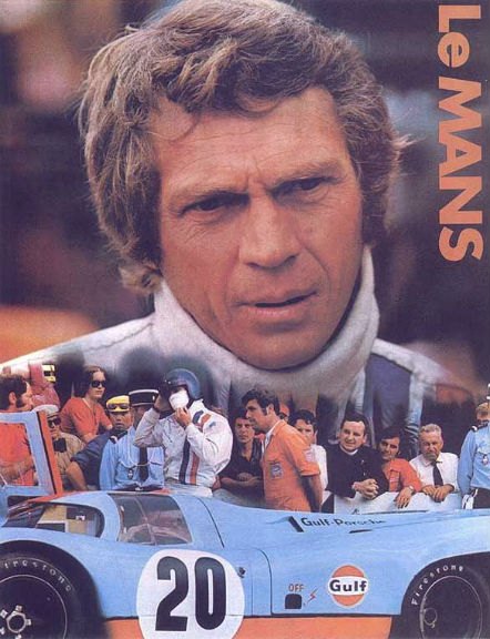 FILM LE MANS 1970 Affiche Film Steve-Mac-Queen