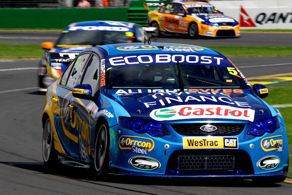 V8 2012 ALBERT PARK Winterbottom 1er manche 2