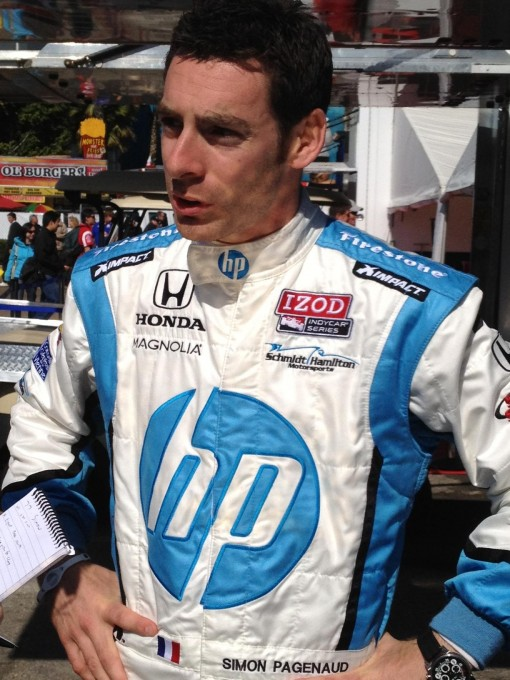 INDYCAR 2012 portrait SIMON PAGENAUD a LONG BEACH photo Emmanuel LUPE autonewsinfo