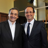 SERGE SAULNIER FRANCOIS HOLLANDE 1er mai 2012 NEVERS Photo Stephane JEANBAPTISTE pour autonewsinfo