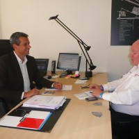 STEPHANE CLAIR et Gilles GAIGNAULT Interview GPN de France F1 dimanche 30 Septembre 2012 photo autonewsinfo