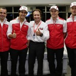 WEC 2012 SAO PAULO les pilotes AUDI AVEC EMERSON FITTIPALDI