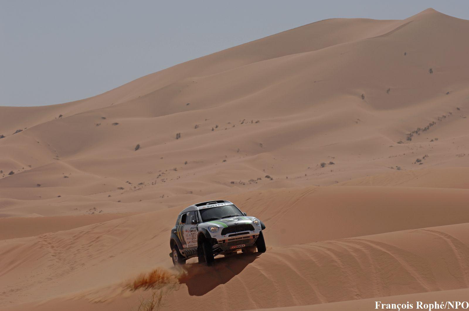 OILYBIA MAROC 2012 MINI HOLOWCZYC dans les dunes de MERZOUGA photo NPO pour autonewsinfo