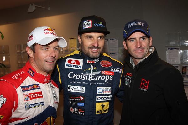 WRC ALSACE 2012   LOEB MULLER DUMAS le trio des pilotes Francais Photo JO LILLINI pour autonewsinfo