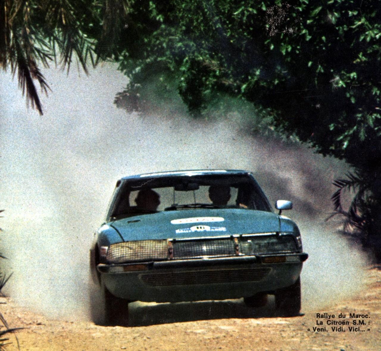 JEAN DESCHASEAUX Victoire au rallye du MAROC 1971 avec la SM CITROEN