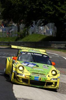 Timo Bernhard / Marc Lieb / Romain Dumas / Marcel Tiemann (Manthey Racing, Porsche 911 GT3-RSR, Startnr. 1)