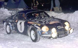 ALPINE RENAULT au MONTE CARLO 1973