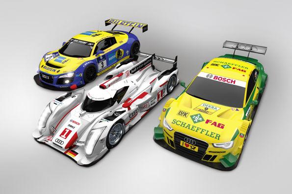 AUDI LES betes des circuits Audi R8 LMS ultra, Audi R18 e-tron quattro, Audi A5 DTM