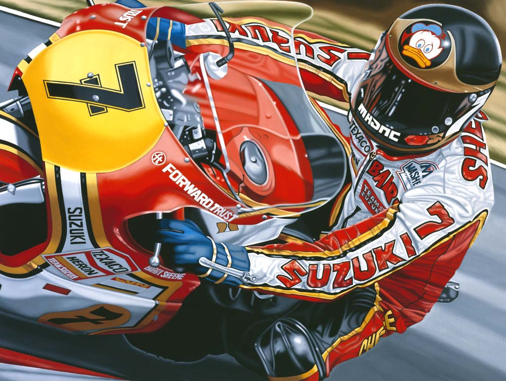 Barry Sheene Suzuki 1977