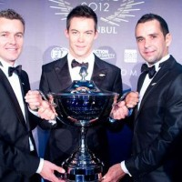 ENDURANCE WEC 2012 ISTANBUL Remise des prix pilotes CHAMPIONS du monde TRELUYER FASSLER LOTTERER
