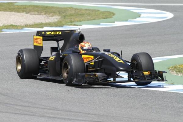 F1 2012 ALGUARSUARI MONOPLACE DE TEST PIRELLI