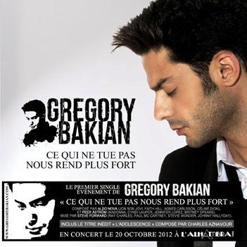 GREGORY BAKIAN la pochette de son 1er single photo BAKALIAN