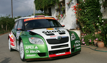 IRC Rallye des Asturies Skoda Jan  Kopecky