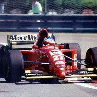 Jean Alesi Ferrari 1995 victorieux du GP du CANADA