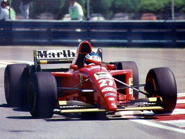 Jean Alesi Ferrari 1995 victorieux du GP du CANADA