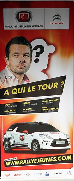 RALLYE JEUNES FINALE 2012 Panneau Circuit de LEDENON Photo Gerard AURIOL pour autonewsinfo