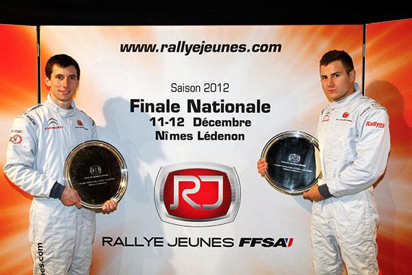 RALLYE JEUNES Les deux laureats Rallye Jeunes FFSA 2012 Photo Gerard AURIOL pour autonewsinfo