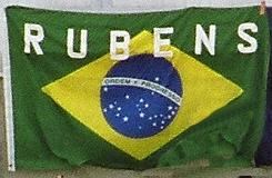 Rubens Barrichello drapeau bresilien