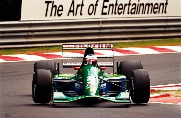 SCHUMACHER 1er GP A SPA en BELGIQUE 1991 son one shot pour JORDAN en remplacement de Gachot emprisonné © Manfred GIET pour autonewsinfo