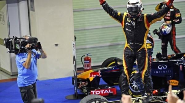 F1 2012 ABU DHABI 1ere victoire pour KIMI RAIKKONEN  et LOTUS RENAULT