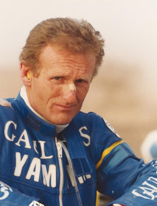 JCO Portrait arrivee Rallye PARIS DAKAR 1985
