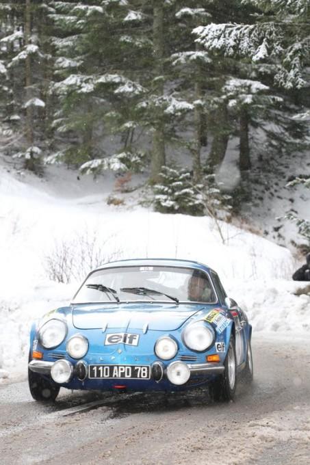 MONTE CARLO HISTORIQUE 2013 ARDECHE Lundi 28 janvier ALPINE TAVARES DAUCE  PHOTO BERNARD CANNONE