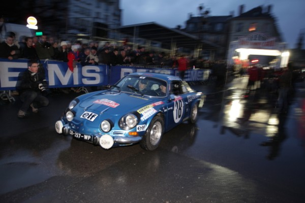 MONTE CARLO HISTORIQUE 2013 DepartReims Berlinette ALPINE Num 18 Andruet Biche Photo Bernard Ca