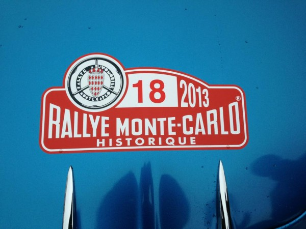 MONTE CARLO HISTORIQUE 2013 La plaque de la berlinette 18 ANDRUET BICHE