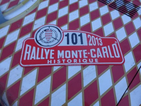 MONTE CARLO HISTORIQUE 2013  la voiture 101 du Prince CASIRAGHI photo autonewsinfo
