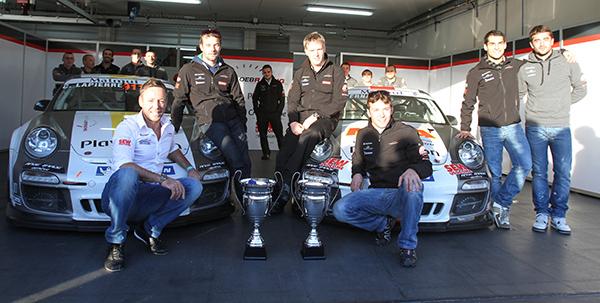 PORSCHE CUP 2012 TOUS LES LAURIERS POUR LE SLR Titres A B et TEAM photo Gille VITRY autonewsinfo