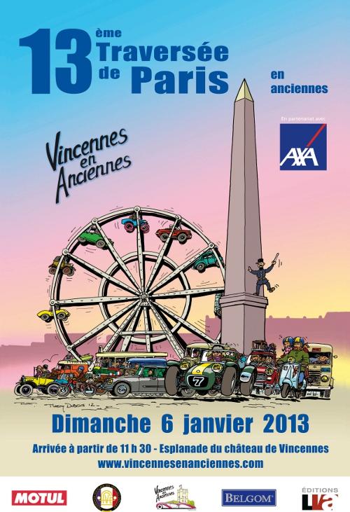 TRAVERSEE DE PARIS 6 JANVIER 2013 AFFICHE