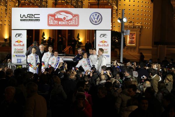 WRC 2013 Avant departn MONTE CARLO toute equipe VW Photo Jo LILLINI
