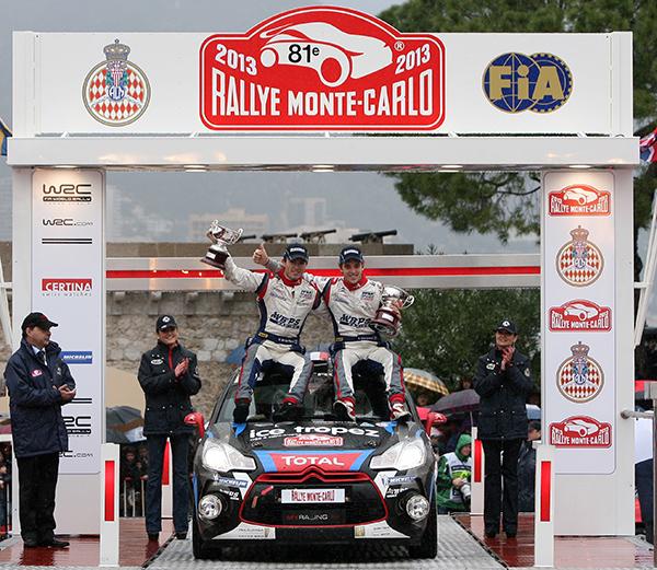 WRC 2013 MONTE CARLO CHARDONNET DE LA HAYE podium a MONACO