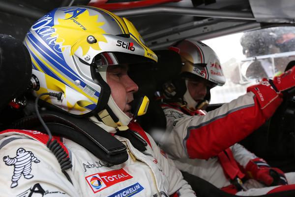 WRC 2013 MONTE CARLO CITROEN LOEB ELENA cockpit Photo Jo LILLINI