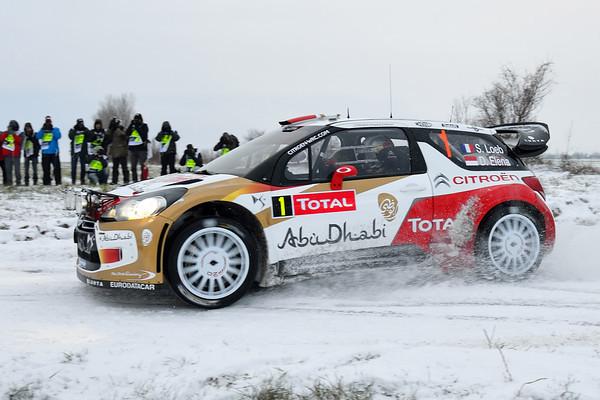 WRC 2013 MONTE CARLO LOEB DS3 BURZET Photo Jo LILLINI