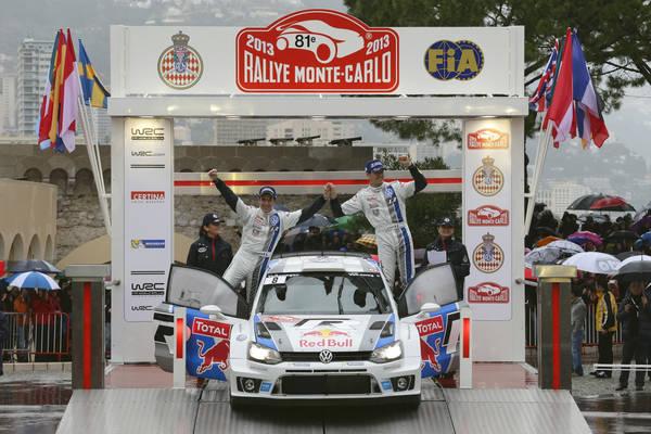 WRC 2013 MONTE CARLO PODIUM POUR LA POLO OGIER INGRASSIA