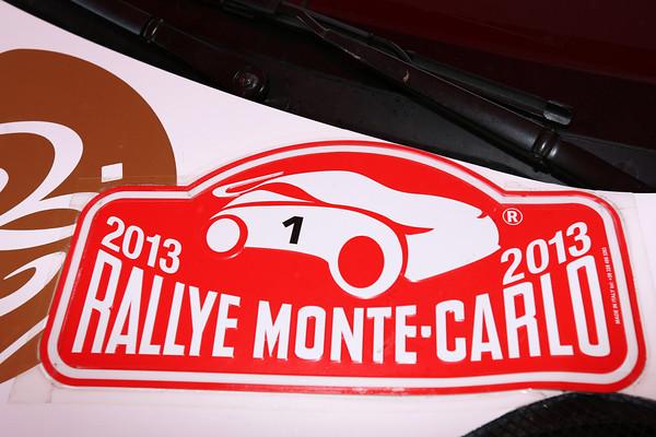 WRC 2013 MONTE CARLO Plaque N°1 LOEB ELENA  Photo Jo LILLINI