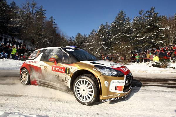 WRC 2013 MONTE CARLO la DS3 CITROEN  de Seb LOEB Photo JO LILLINI
