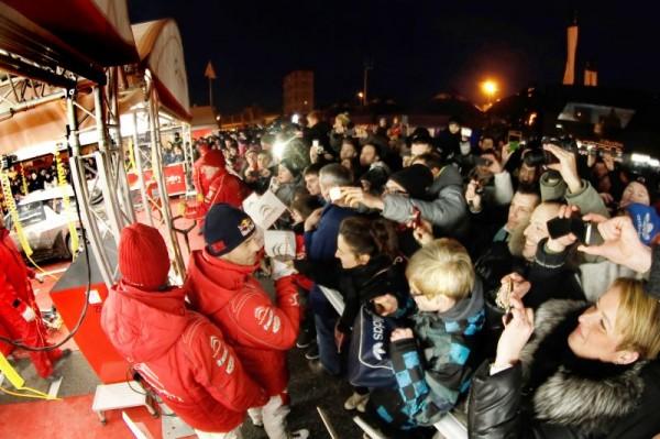 WRC 2013 RALLYE MONTE CARLO LOEB et ses fans