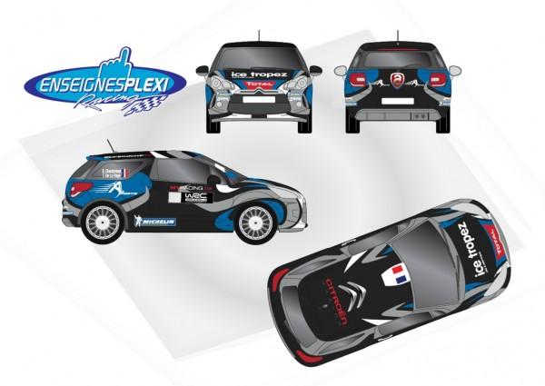 WRC 2013MONTE CARLO Decoration DS3 CHARDONNET DE LA HAYE
