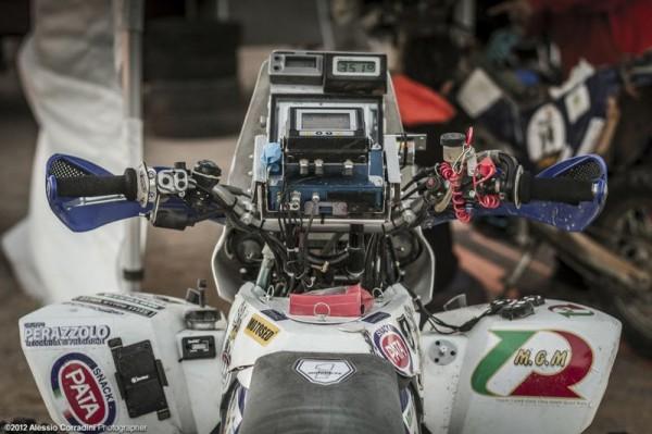 africa race poste de pilotage moto