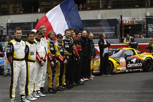 24B HEURES DU MANS 2012 Team LARBRE CEREMONIE presentation Photo Team V Images