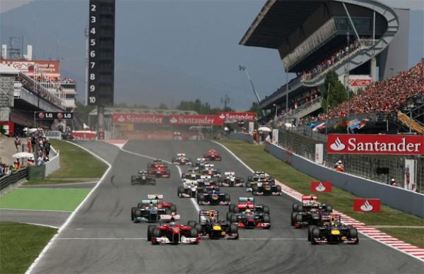 CIRCUIT DE MONTMELO a BARCELONE depart GP F1